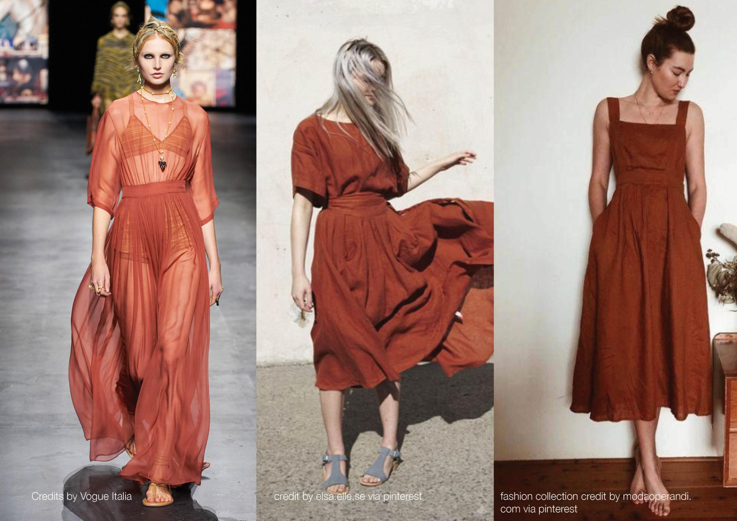 Pantone rust outfit