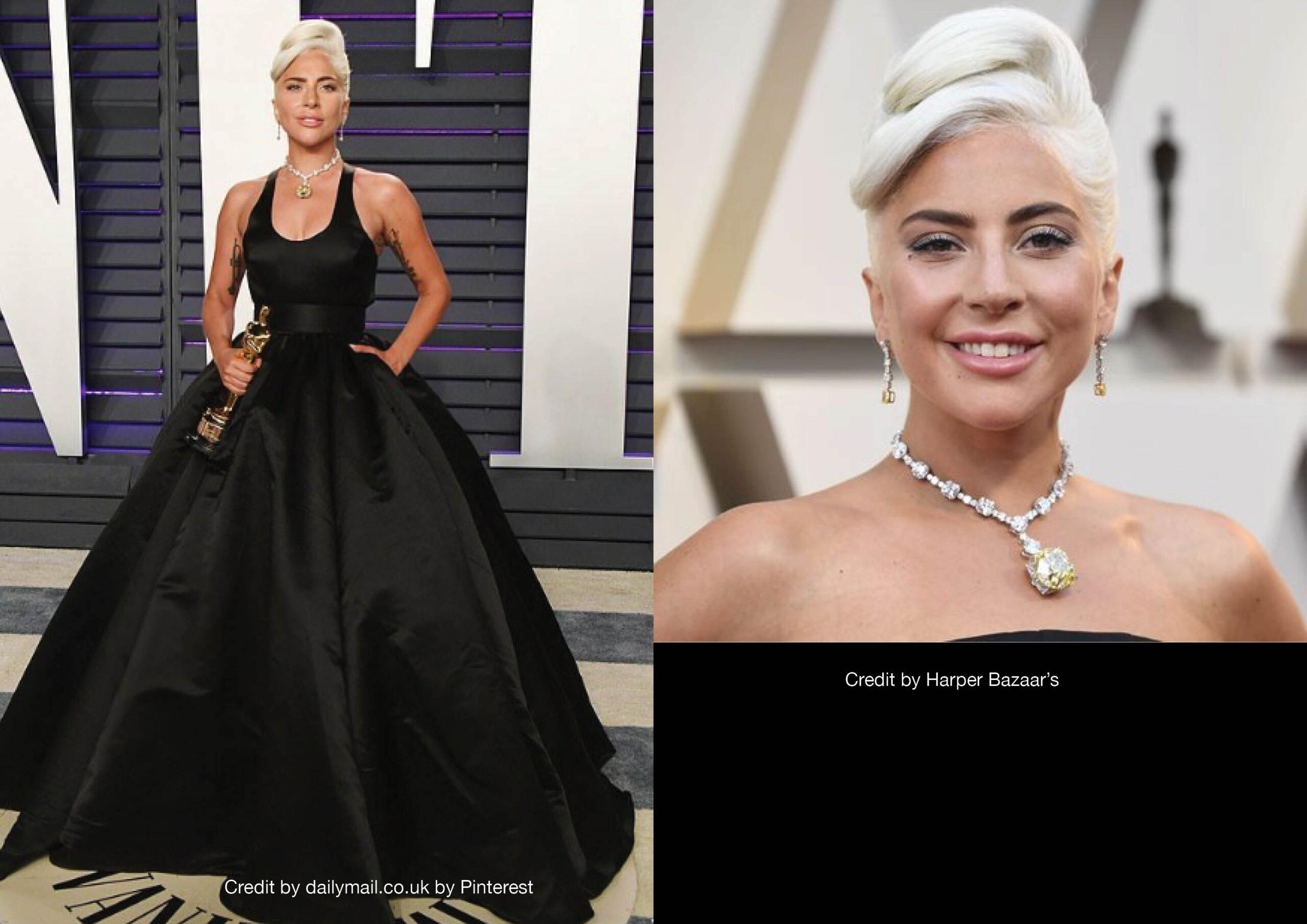 Lady Gaga il look agli Oscar 2019