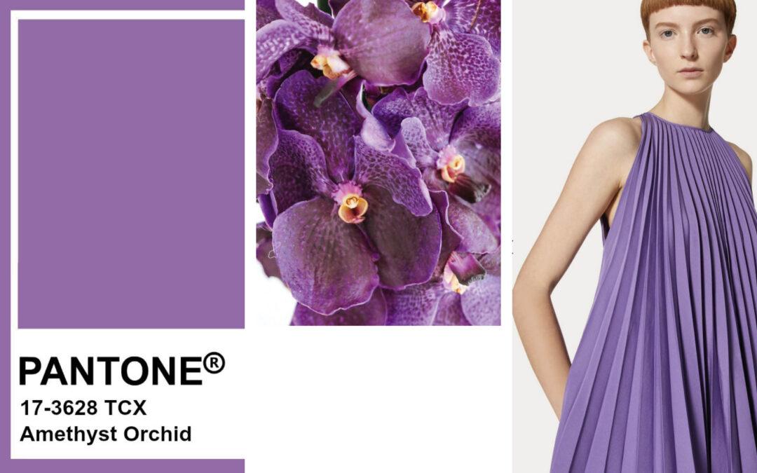 Il pantone Amethyst Orchid fra i colori della primavera/estate 2021